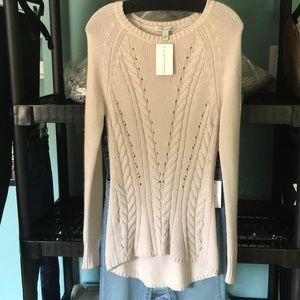 Autumn Cashmere Gorgeous blush cable sweater